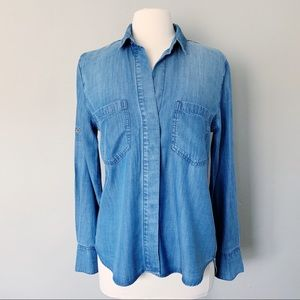 Anthropologie Cloth & Stone Chambray Shirt NWOT